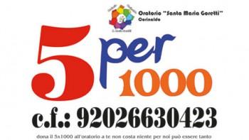 Permalink to: 5 per 1000 per l'ORATORIO